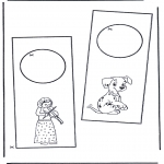 Bricolage coloriages - Pendant de porte 1