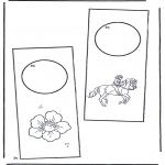Bricolage coloriages - Pendant de porte 2