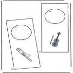 Bricolage coloriages - Pendant de porte 3