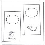 Bricolage coloriages - Pendant de porte 4