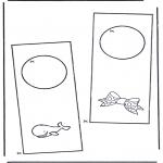 Bricolage coloriages - Pendant de porte 5