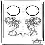 Bricolage coloriages - Pendant de porte 6