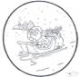 Père Noël carte de piqûre