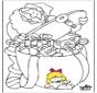 Père Noël - Coloriage 1