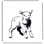 Coloriages d'animaux - Petit Agneau 2