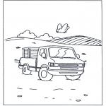 Coloriages faits divers - Petit camion