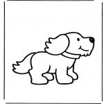 Coloriages pour enfants - petit chien