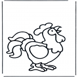 Coloriages pour enfants - Petit coq