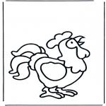 Coloriages faits divers - Petit coq