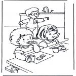 Coloriages pour enfants - Petit déjeuner