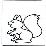 Coloriages pour enfants - petit écureuil