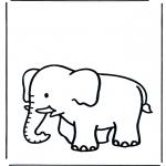 Coloriages pour enfants - Petit éléphant