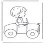 Petit garçon en voiture
