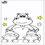 Coloriages pour enfants - Petit hippopotame 4