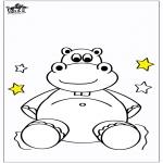 Coloriages pour enfants - Petit hippopotame 5