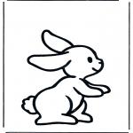 Coloriages pour enfants - Petit lapin 1