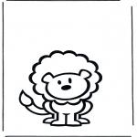 Coloriages pour enfants - Petit lion 2