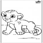 Coloriages d'animaux - Petit Lion