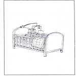 Coloriages pour enfants - Petit lit