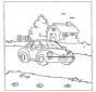 Petit maison et voiture