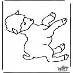Coloriages d'animaux - Petit Mouton 1