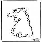 Coloriages d'animaux - Petit Mouton 2
