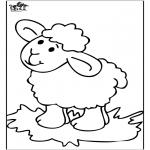 Coloriages d'animaux - Petit Mouton 4