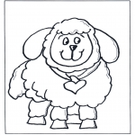 Coloriages pour enfants - Petit mouton