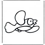 Coloriages pour enfants - Petit oiseau 1