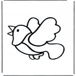 Coloriages pour enfants - Petit oiseau 2