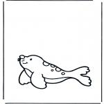 Coloriages pour enfants - Petit phoque
