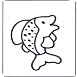 Coloriages pour enfants - petit poisson