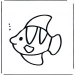 Coloriages pour enfants - Petit poisson sous l'eau