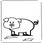 Coloriages pour enfants - petit porc