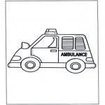 Coloriages pour enfants - Petite ambulance
