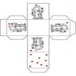 Coloriage thème - Petite boîte Saint Valentin