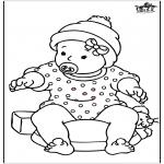 Coloriage thème - Petite fille 2