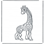 Coloriages pour enfants - Petite girafe