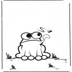 Coloriages pour enfants - petite grenouille