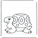 Coloriages pour enfants - petite tortue