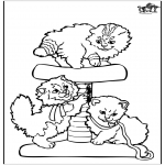 Coloriages d'animaux - Petits chats