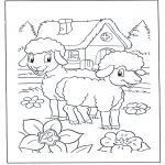 Coloriages pour enfants - Petits moutons