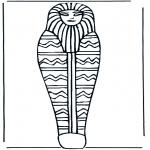 Coloriages faits divers - Pharaon cercueil
