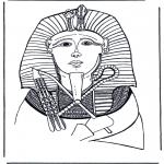 Coloriages faits divers - Pharaon masque de mort