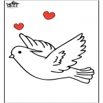Coloriages d'animaux - Pigeon 1