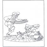 Coloriages faits divers - Pinocchio danse