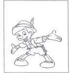 Coloriages faits divers - Pinocchio en bois