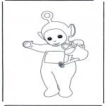 Coloriages pour enfants - Po avec l'arrosoir