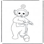 Coloriages pour enfants - Po sur la trottinette