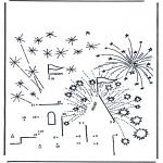 Bricolage coloriages - Points à relier 27